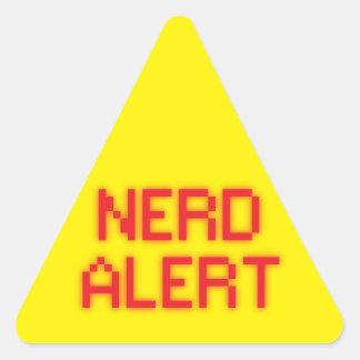 Nerd Alert Triangle Sticker