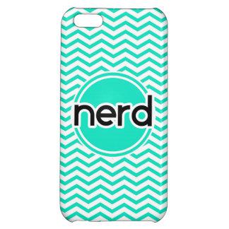 Nerd, Aqua Green Chevron iPhone 5C Cases