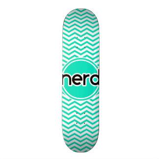 Nerd Aqua Green Chevron Skateboard Decks