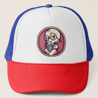 Nerd baby Girl Inside Trucker Hat