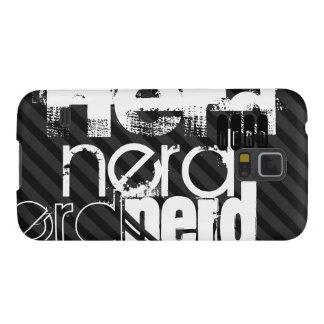 Nerd; Black & Dark Gray Stripes Cases For Galaxy S5