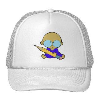Nerd boy big pencil cap