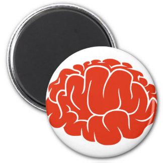 Nerd brain 6 cm round magnet