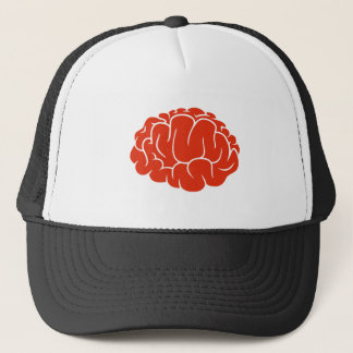 Nerd brain trucker hat