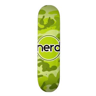 Nerd; bright green camo, camouflage skate deck