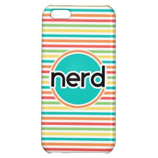 Nerd Bright Rainbow Stripes iPhone 5C Cover