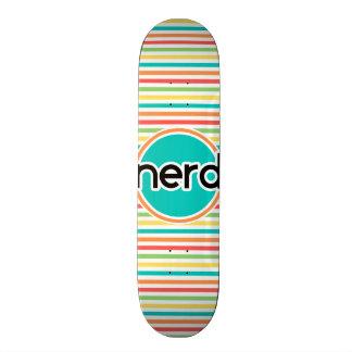 Nerd Bright Rainbow Stripes Skate Decks