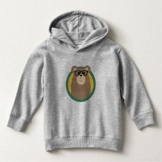 Nerd Brown Bear with cirlce Hoodie