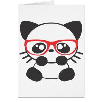 Nerd Cat Greeting Card