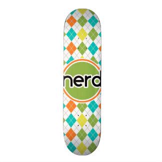 Nerd; Colorful Argyle Pattern Skate Board Deck