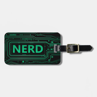 Nerd concept. luggage tag
