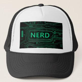 Nerd concept. trucker hat