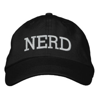 NERD EMBROIDERED BASEBALL CAPS