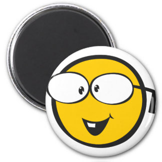 Nerd Emoji 6 Cm Round Magnet