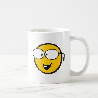 Nerd Emoji Basic White Mug