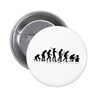 Nerd Evolution 6 Cm Round Badge