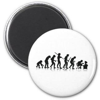 Nerd Evolution 6 Cm Round Magnet