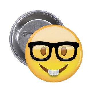 Nerd Face Emoji 6 Cm Round Badge