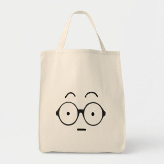 Nerd face Tote bag