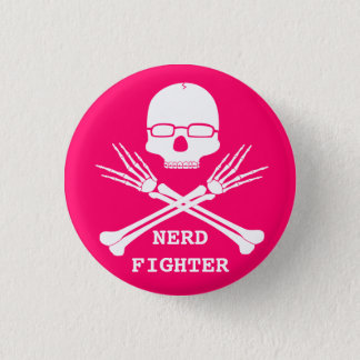 NERD FIGHTER, Customize colour (see description) 3 Cm Round Badge