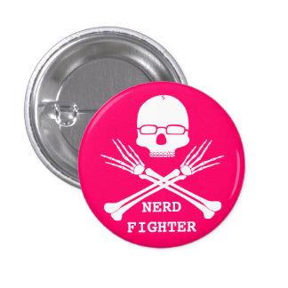 NERD FIGHTER, Customize colour (see description) 3 Cm Round Badge