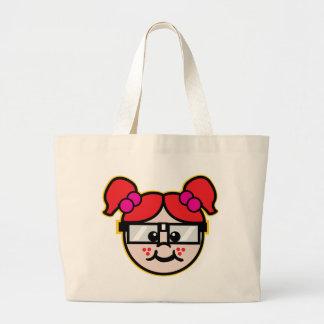 Nerd Girl Tote Bags