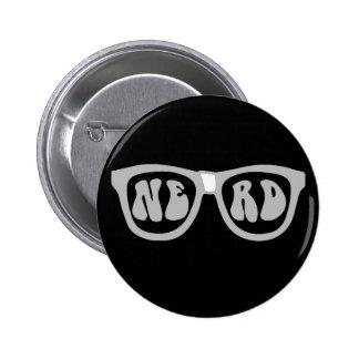 Nerd Glasses 6 Cm Round Badge