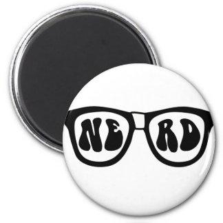 Nerd Glasses 6 Cm Round Magnet