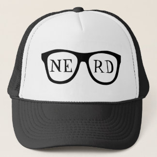 Nerd Glasses Black Horn Rimmed Smart Trucker's Hat