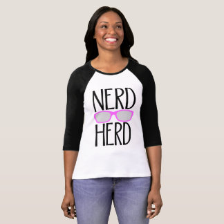 Nerd Herd with Pink Glasses, single-minded expert T-Shirt
