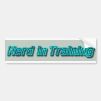 Nerd in Training Bumper Sticker