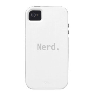Nerd iPhone 4 4s Tough Case Sleeve - Nerd Phone iPhone 4 Covers
