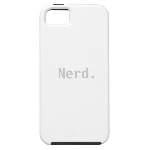 Nerd iPhone 5  Tough Case Sleeve - Nerd Phone Cover For iPhone 5/5S