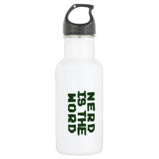 Nerd is the Word 532 Ml Water Bottle