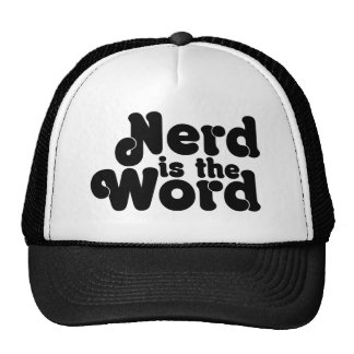 Nerd is the Word Cap