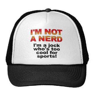 Nerd Jock Funny Ball Cap Trucker Hat