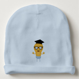 Nerd light bulb with glasses Zh171 Baby Beanie