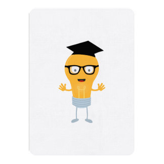 Nerd light bulb with glasses Zh171 Card