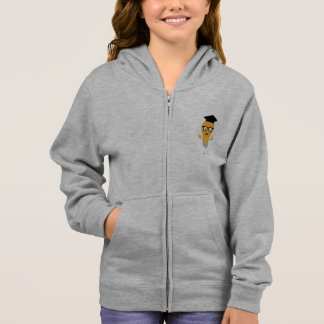 Nerd light bulb with glasses Zh171 Hoodie