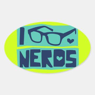 Nerd Love Oval Stickers