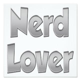 Nerd Lover Grey 13 Cm X 13 Cm Square Invitation Card