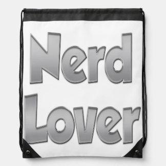 Nerd Lover Grey Drawstring Backpack