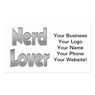 Nerd Lover Grey Pack Of Standard Business Cards