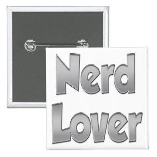 Nerd Lover Grey Button