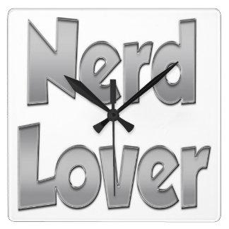 Nerd Lover Grey Wall Clocks