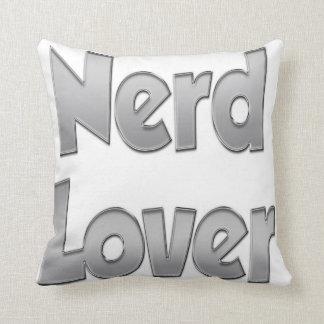 Nerd Lover Grey Throw Pillow