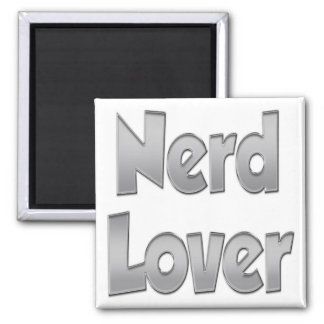 Nerd Lover Grey Magnets