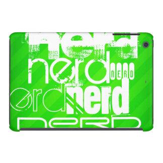 Nerd; Neon Green Stripes iPad Mini Retina Covers