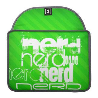 Nerd; Neon Green Stripes MacBook Pro Sleeves
