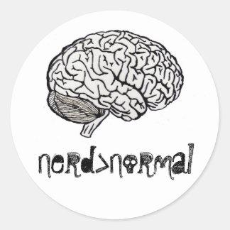 Nerd > Normal Round Sticker
